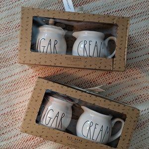 Rae Dunn Cream & Sugar Pots 💕